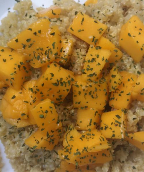 Quinoa con mango