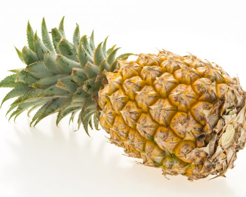 Pineapple fruit isolated on white background